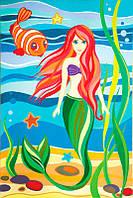 Картина раскраска с контурами на холсте Роса 20*30см Сказочные герои №8 Русалочка GPA283135