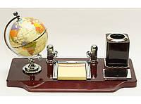 Настольный офисный набор с глобусом атлас