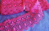 Кружево макраме 7.5 см, цвет розовый/малиновый, фото 1
