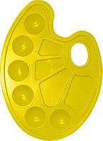Палитра ZiBi овальная пластиковая 6920_Желтый
