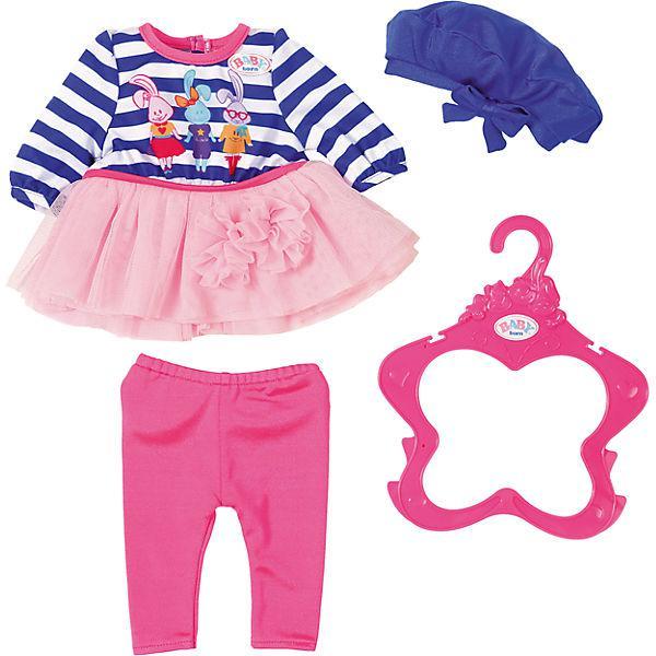 Одежда для кукол Беби Борн комплект модный стиль голубой Baby Born Fashion Collection Zapf Creation 824528