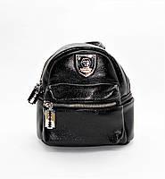Миниатюрный женский рюкзак из искусственной кожи черного цвета MIК-780840, фото 1