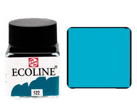 Краска акварельная Royal Talens Ecoline 30мл №522 Бирюзовая синяя 11255220