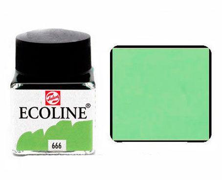 Краска акварельная Royal Talens Ecoline 30мл №666 Зеленая пастельная 11256660