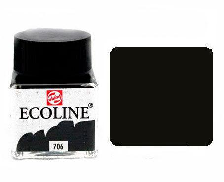 Краска акварельная Royal Talens Ecoline 30мл №706 Серая темн. 11257060