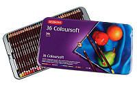Карандаши набор 36цв. Derwent Coloursoft в мет.кор.D-0701028