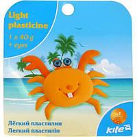 Пластилин легкий Kite 40гр. с глазками K15-277-8K Краб