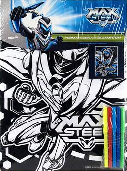Картина раскраска с контурами на картоне KITE 28*38см Max Steel с бархатом MX14-156K