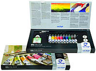 Краски масляные RoyalTalens Van Gogh набор 10цв. по 20мл Combiset + (медиум, масленка, кисти 2шт) 02820415