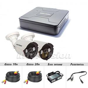 KIT-4122 Полный! комплект видеонаблюдения цифровые видеокамеры  2.4 Mp + видеорегистратор