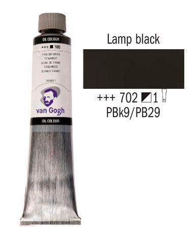 Краска масляная Van Gogh 200мл Royal Talens №702 Сажа газовая 02087023