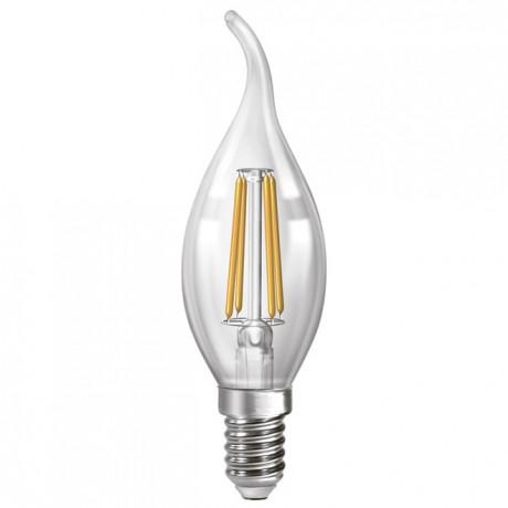 Филаментная лампа свічка на вітрі Led Neomax C37 4W E14 3000К свічка на вітрі