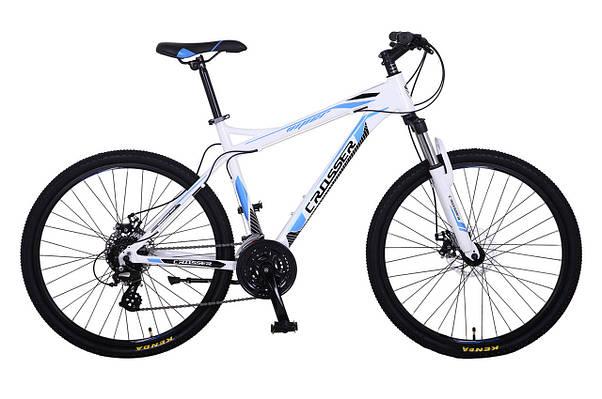 """Горный велосипед CROSSER VIPER  26"""",18""""   Белый / Голубой"""