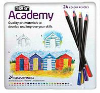 Карандаши цветные 24цв. Derwent Academy в металлической коробке D-2301938