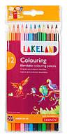 Карандаши цветные 12цв. Derwent Lakeland Colouring в блистере D-33356