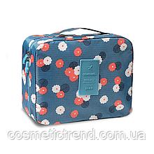 Косметичка/несессер женская дорожная Trevel Season Bag Floralblue 22*17*8 см