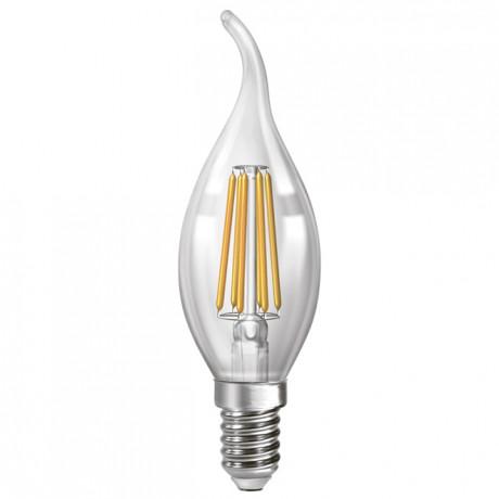 Филаментная лампа свеча на ветру Led Neomax C37 6W E14 3000К свеча на ветру