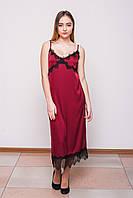 Платье шелковое бордо