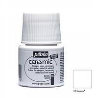Краска акриловая для стекла и керамики Pebeo Ceramic 45мл Белила P-025-010