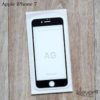 Антибликовое матовое защитное стекло 2,5D для Apple iPhone 7 (black)