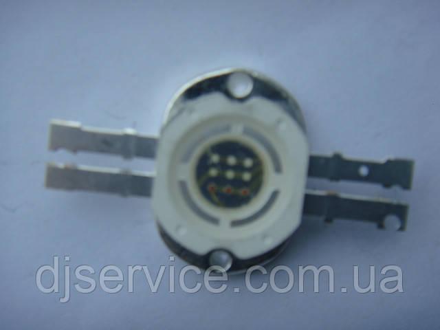 LED диод 10w RGB  2x2 контакта для приборов BIG и др.