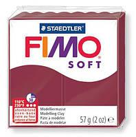 Глина полимерная Staedtler FIMO Soft 56г Бордовая 8020-23