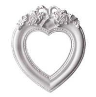 Заготовка для декорирования гипс рамка №3 Серце внутр.7,5х7,8см внеш.11х13см  БР-d01003