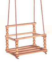 Заготовка для декорирования Качели подвесные деревянные Мелкие шарики 48х28х30 см УГО-11C23-1