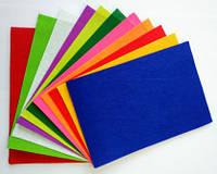 Фетр кольоровий з малюнком (друга сторона - чиста), набір 19 арк. 20 * 30см, 10 різн. кольорів; жорсткий, 1 мм