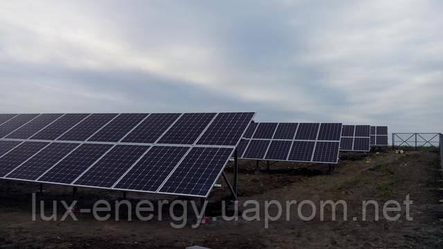 Сетевая солнечная станция 30 кВт, фотомодули Longi Solar 295W, инвертор Huawei SAN2000 33KTL-A, Киевская обл., с. Мотовиловка