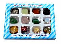Набор кулонов из натуральных камней 12 штук