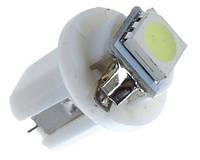 Лампа 24V B8.5 LED 1 SMD 5050 белый для освещения панели приборов