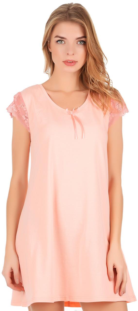 Нічна сорочка персикового кольору 0174