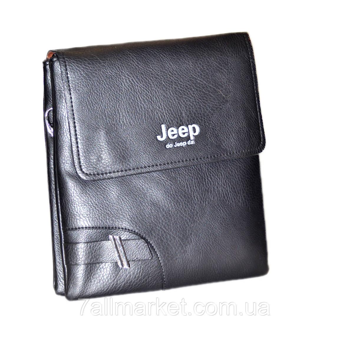 """Сумка-планшетка мужская Jeep кожзам (25х25 см) Серии """"VALET"""" купить оптом в Одессе на 7 км"""