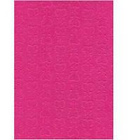 Фетр поделочный (полиэстер) 180г/м2 21,5*28см Rosa Talent EB016 ембосинг Розовый, Сердца