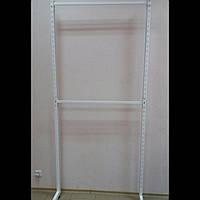 Стойка для одежды пристенная белая, фото 1