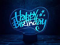 """Сменная пластина для 3D светильников """"С днем рождения"""" 3DTOYSLAMP, фото 1"""
