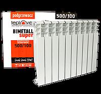 500/100 Биметаллический радиатор 10 секций TEPLOVER SUPER
