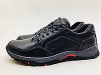 Мужские кроссовки ECCO черно-красные NEW