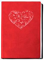 Ежедневник А6 Optima недатированный Vivella Сердце  крем блок красный O20803-03