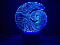 "Сменная пластина для 3D ночника ""Спираль"" 3DTOYSLAMP, фото 1"