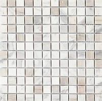 Мраморная мозаика белая Vivacer SPT125
