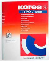 Копирка А4 10л. TYPO/1200 KORES синий K79086