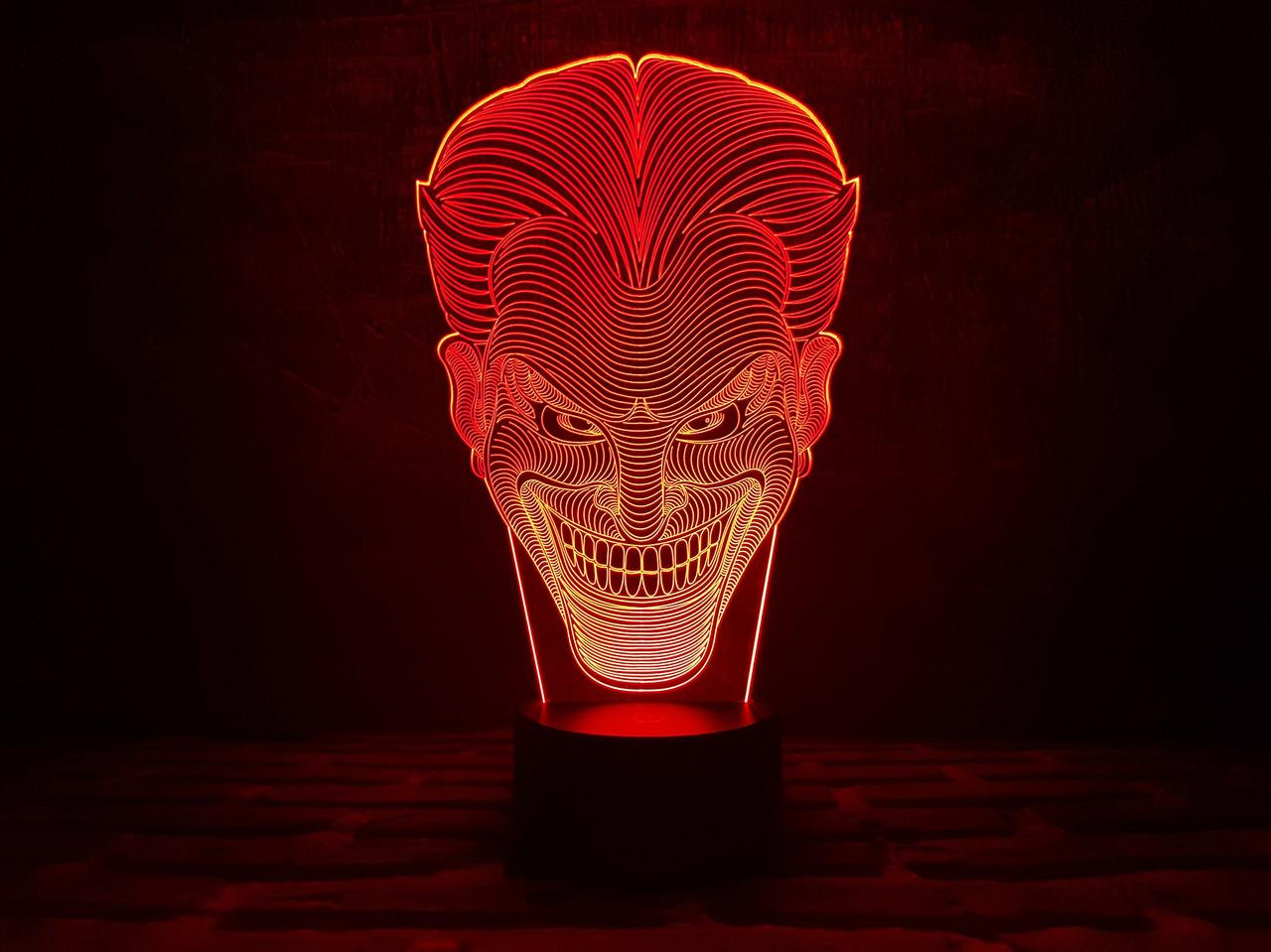 "3D ночник ""Джокер"" 3DTOYSLAMP, фото 1"