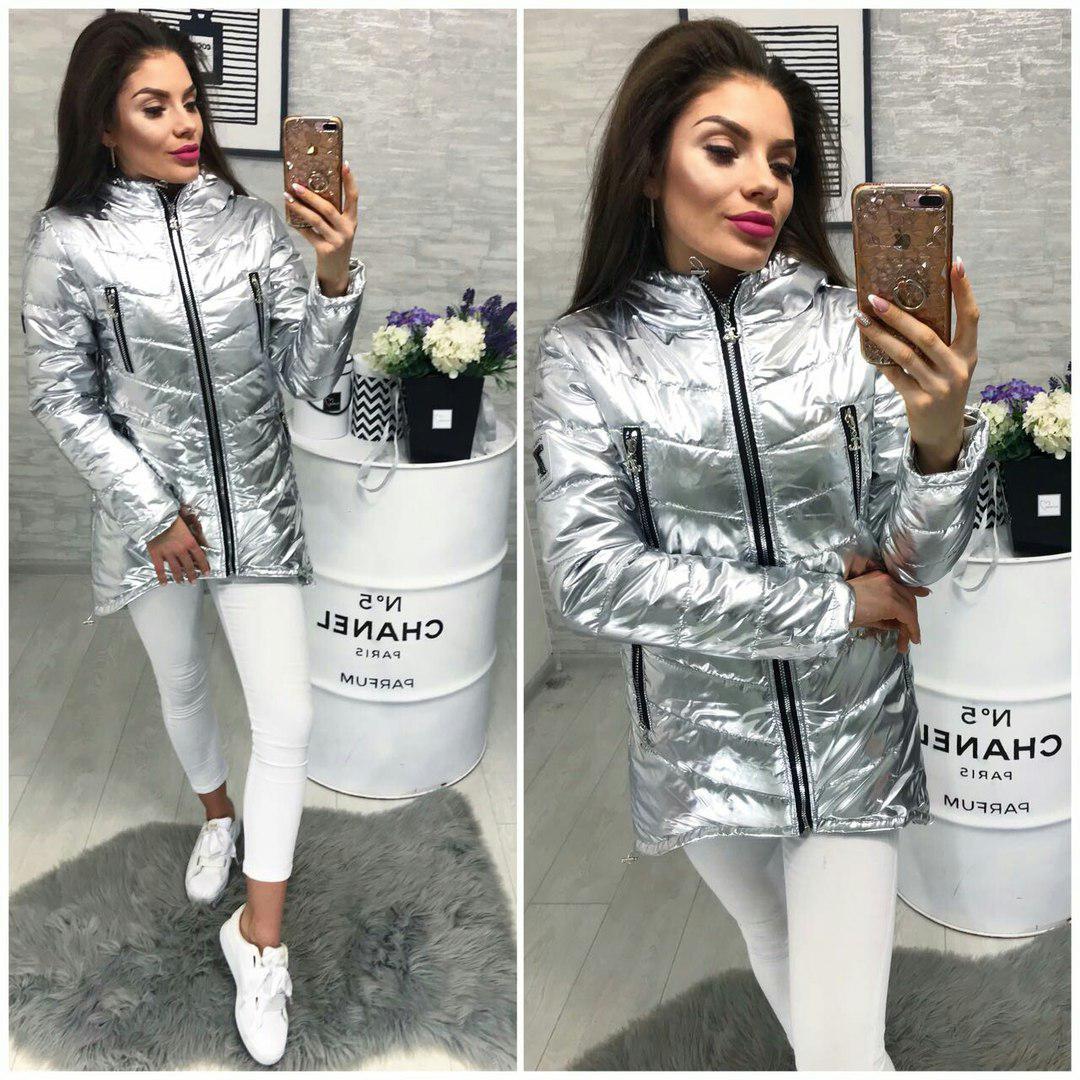 Куртка весна/осень 2018, модель 300, цвет - серебро