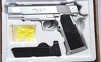 Детский пистолет ZM25, метал, пульки