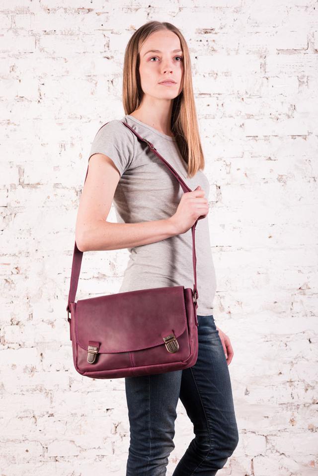 """Жіноча шкіряна сумка """"Ladylike"""" ручної роботи"""