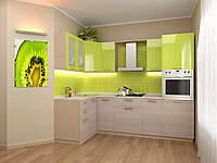 Кухонный гарнитур с Оливковым верхом