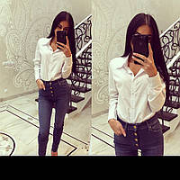 Классическая прямая женская белая рубашка tez2613283