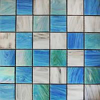 Голубая мозаика смальта Vivacer YBmix1